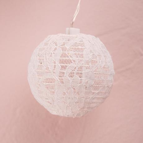 Reťaz Čipkovaných Lampášikov - LED svetlá,
