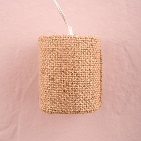 Reťaz Prírodných Jutových Lampičiek - LED svetlá,