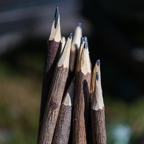 Rustikálne Drevené ceruzky,