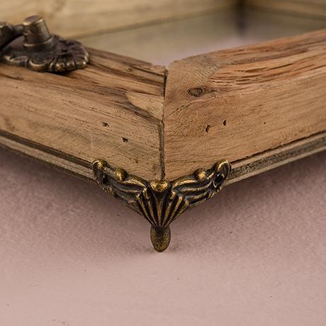 Rustikálny drevený podnos s madlami - Veľký,