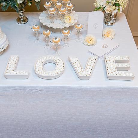 Set svadobných tanierov - Love - láska,