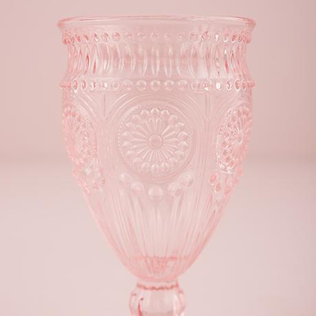 Sklenený Vintage Kalich - Zaprášená Ružová,