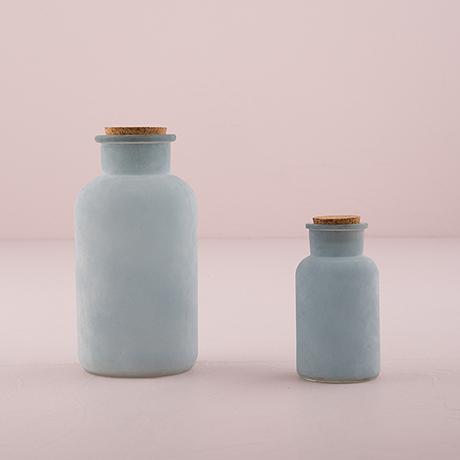 Sklenná Fľaša s Korkovou Zátkou - Morská Modrá,