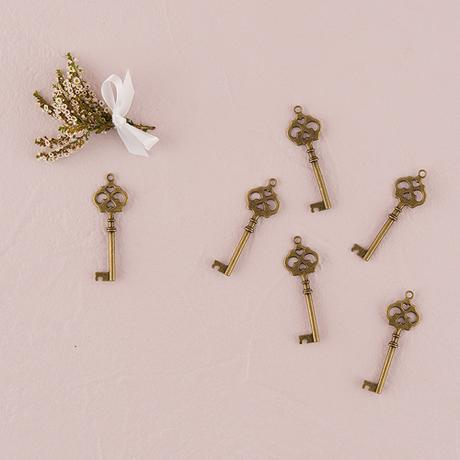 Starožitný kľúč - Dvojité Srdce,