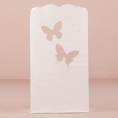 Svadobné papierové lampášiky - Motýle,