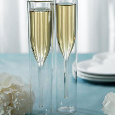 Svadobné poháre - Dvojstenné poháre na šampanské,