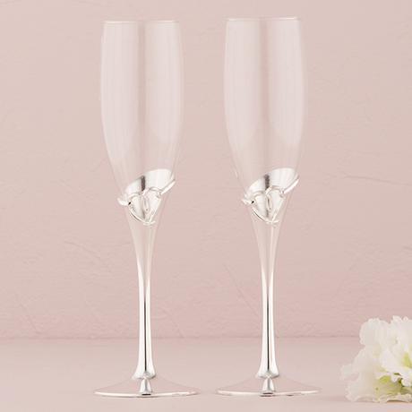 Svadobné poháre - Uviazane srdcia,