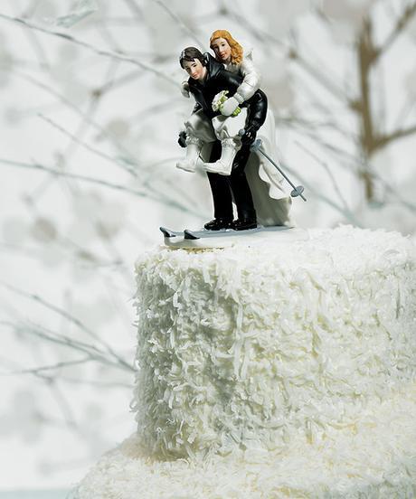 Svadobný pár - Snehové radovánky,