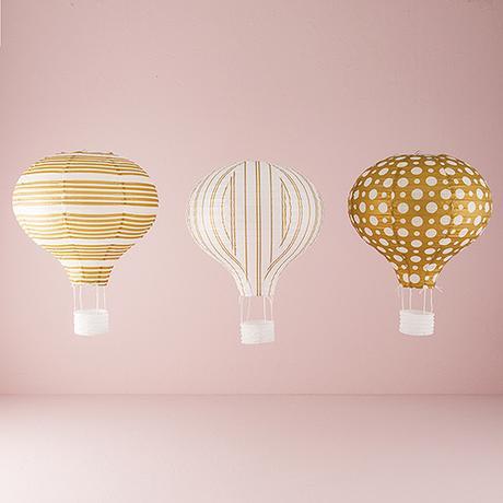 Teplovzdušný Balon - Lampión - Set 3 ks,