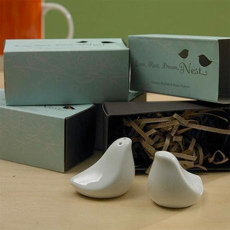 Unikátny set -vtáčiky lásky- soľnička a korenička,