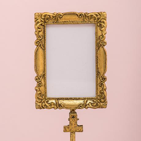 Vysoký Štvorcový Barokový Rám - Zlatý,