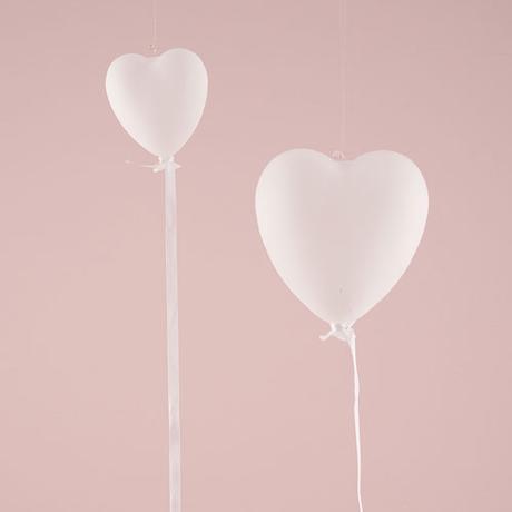 Závesné Sklenené Srdce - Biela - Malé,