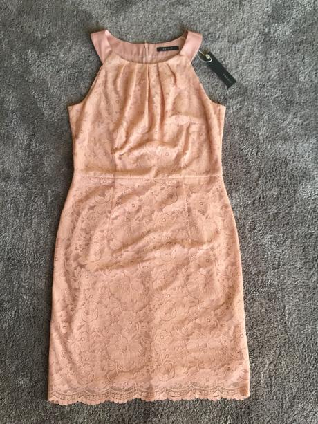Esprit krajkované šaty starorůžové barvy, 36