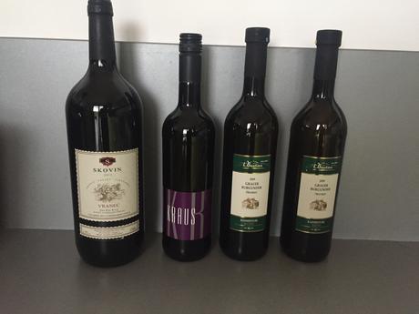 Set 2 červených a 2 bílých vín,