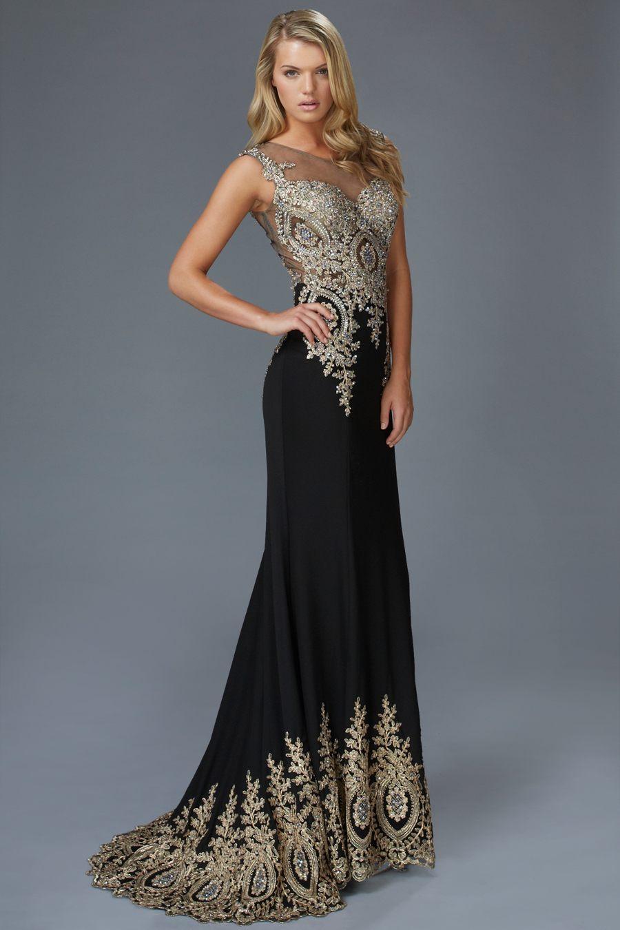 S01205 luxusné čierne šaty s vlečkou 5de36cd2d50