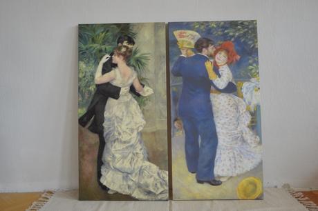 Renoir reprodukce na plátně 2 obrazy ,
