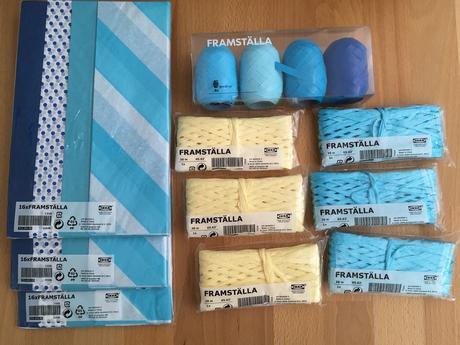 Hodvábny papier a stužky z IKEA,