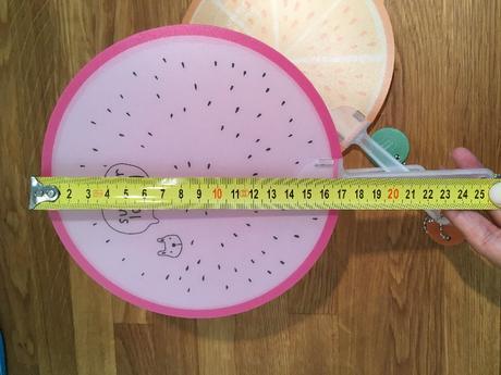 vejár plastový - ovocie,