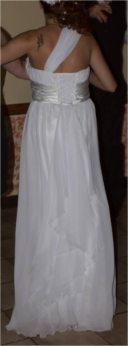 jednoduché padavé svadobné šaty veľ.36/38, 38