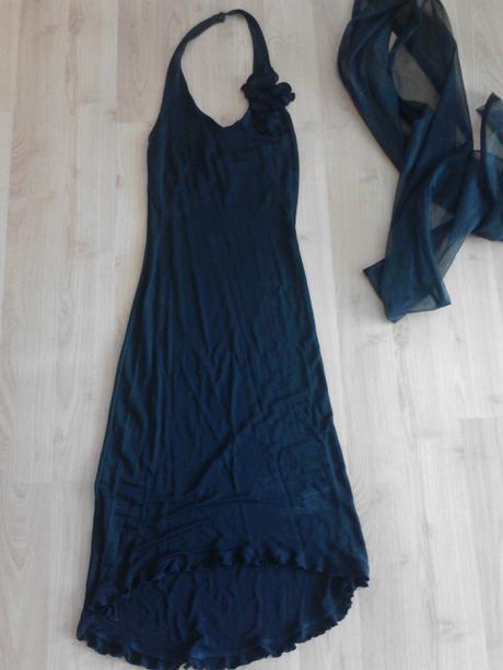 Nádherné čierne slávnostné šaty, 36