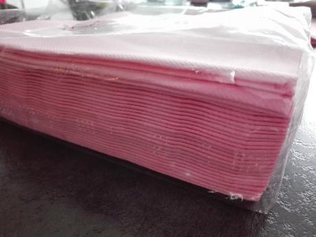 Luxusní růžové ubrousky,