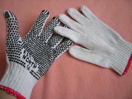 Pracovné rukavice S - M,