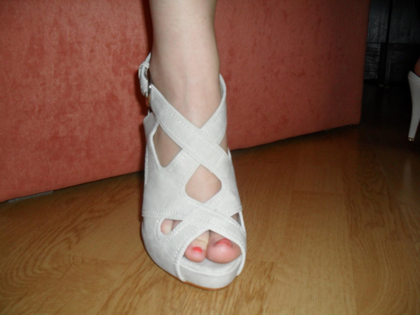 4700a131b104 Predám pekné béžové topánky velkosť 37 aj 38