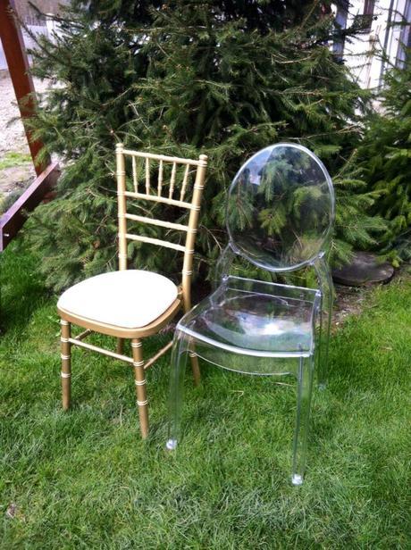 Transparentné ghost stoličky,