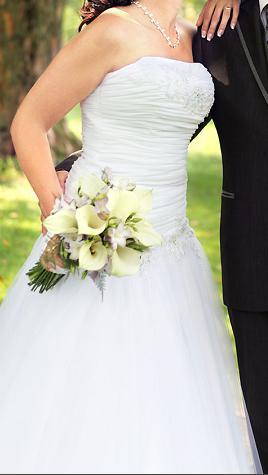 Ponúkam svadobné šaty, 39