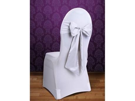 akce - stuha na židle bílá,