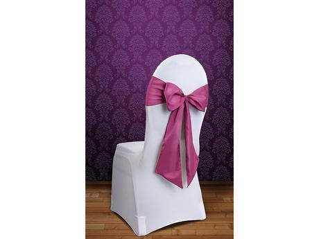 akce -  stuha na židle růžová tmavá fuchsie,
