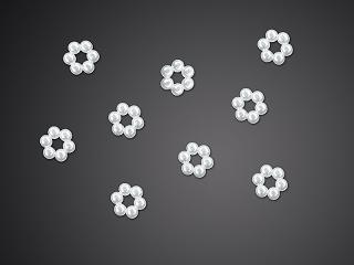 aplikace brož květina perleťová 50 ks ,