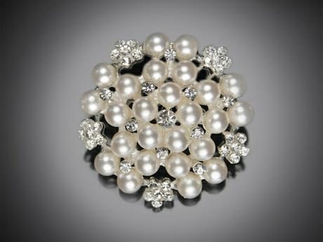 Brož perla malá 2 ks,