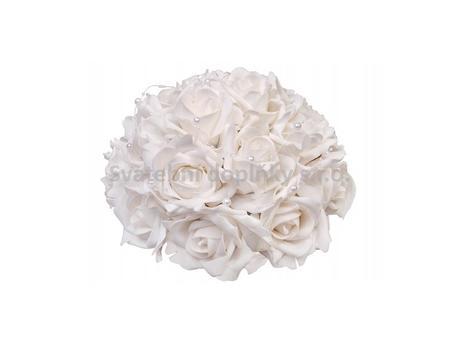 Buket z pěnových růží - barva bílá,