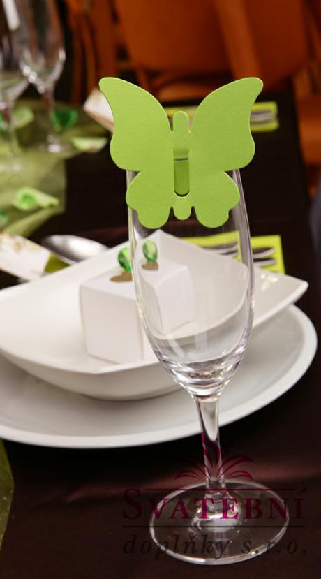 Jmenovka na stůl zelená,