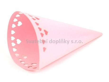 Kornout papírový, růžový 6 ks,