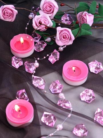 Krystalky růžové 50 ks,