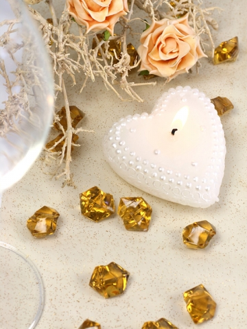 Krystalky zlaté 50 ks,