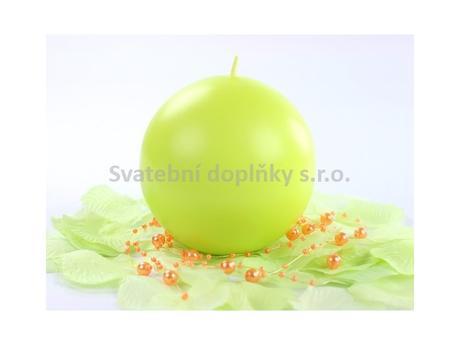 Kulatá svíčka zelené jablko,