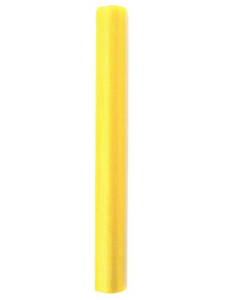 Organza 36 cm x 9 m žlutá,