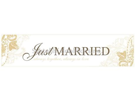 SPZ Just Married - zlatá,