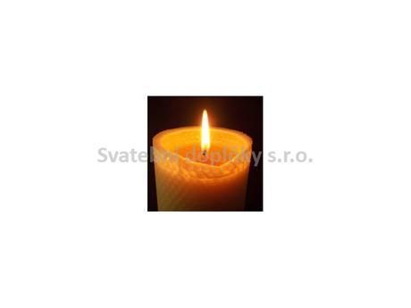 Svíčka ze včelího vosku 60 x 55 mm,