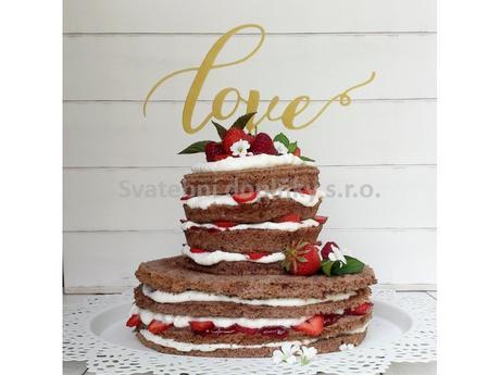 "Zápich "" LOVE "" 15 cm,"