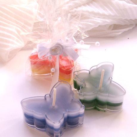 dárek pro svatební hosty - svíčka motýlek,
