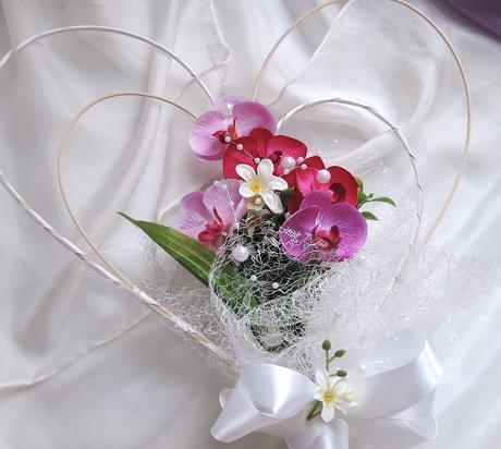 """dekorace na auto """"3 odstíny orchidejí"""","""