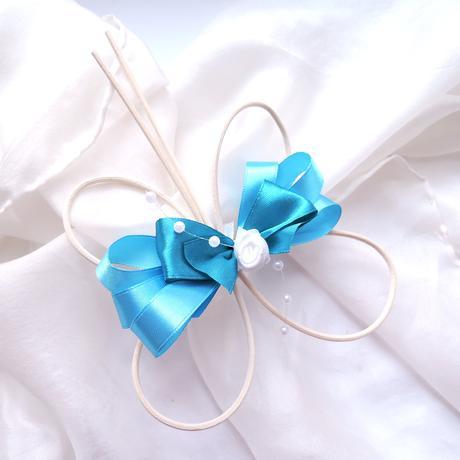 dekorace na auto- blue romantic,