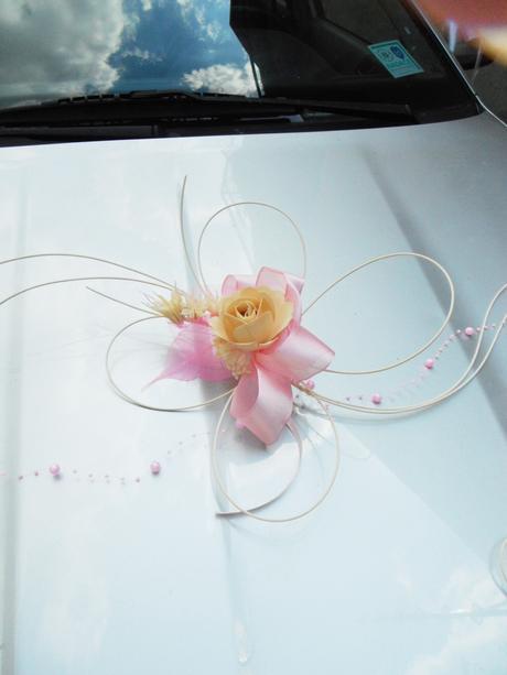 dekorace na auto- pink romantic,