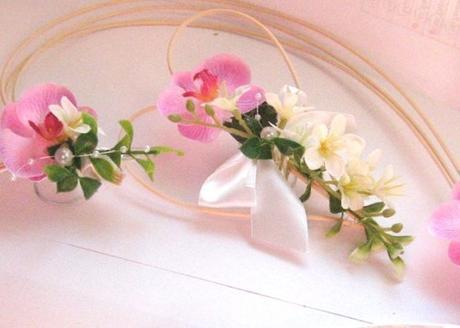 """dekorace na auto """"srdce, srdíčko a orchidej"""","""