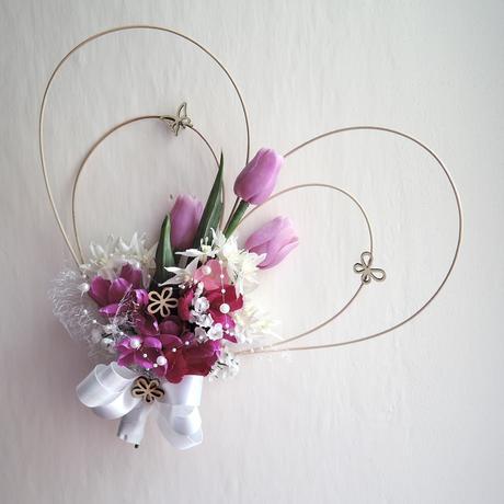 """dekorace na auto """"Tři fialové tulipány"""","""
