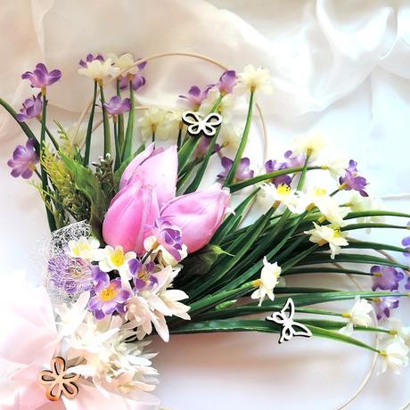 """dekorace na svatební auto """"Jarní"""","""